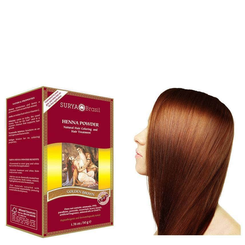 Haarverf – Golden Brown – Surya Brasil Henna
