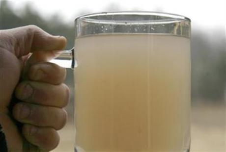 Getapt kraanwater in de buurt van schaliegasboringen