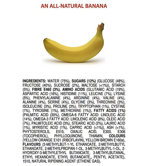 E-nummer - banaan