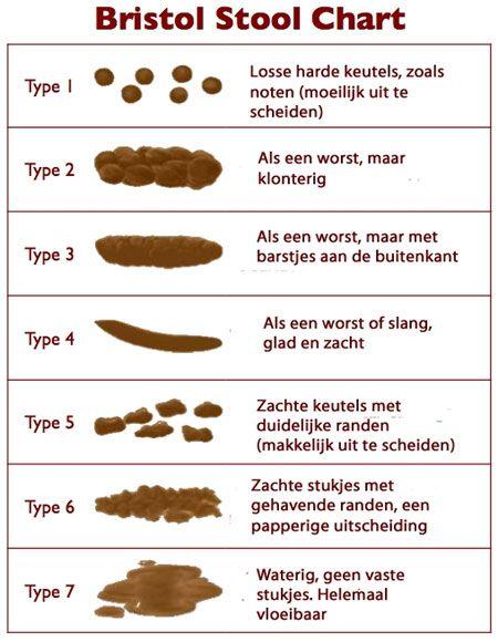 bristol stool chart Nederlands