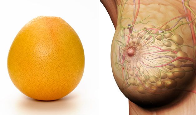 Grapefruit borst