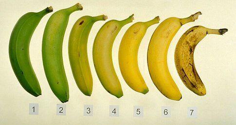 Zelf eet ik bananen wanneer ze tussen de 4 en 5 zijn.