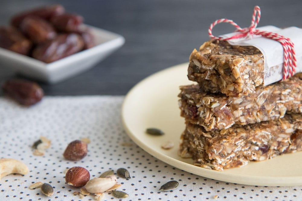 Recept voor zelfgemaakte granola bar snack