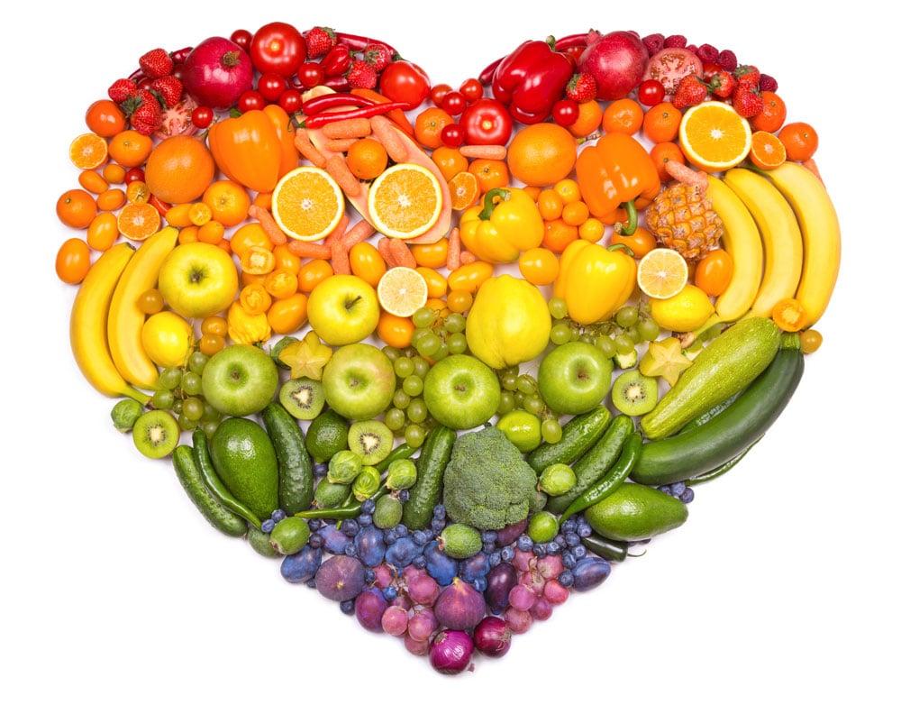 Voorbeeld van gevarieerde voeding voor hart en vaatstelsel