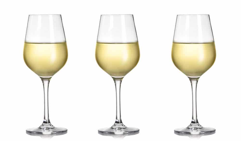 hoeveel wijn in een glas