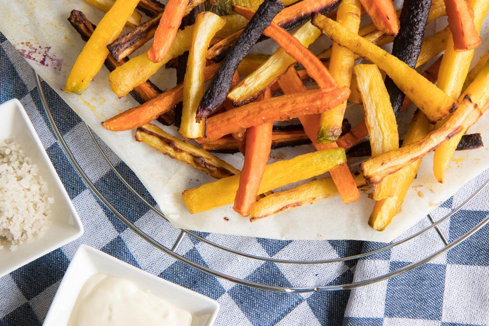 Groente friet/patat makkelijk zelf maken in de oven